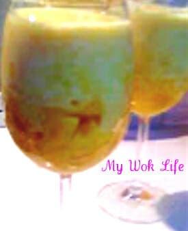 Mango Yogurt with Chunks