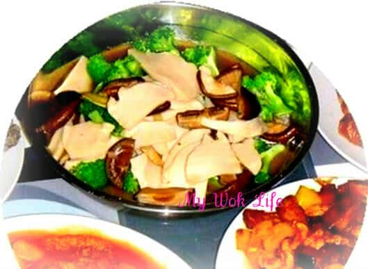 Vegetarian Brocolli & Mock Abalone