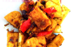 Fried tofu with Chili bean paste