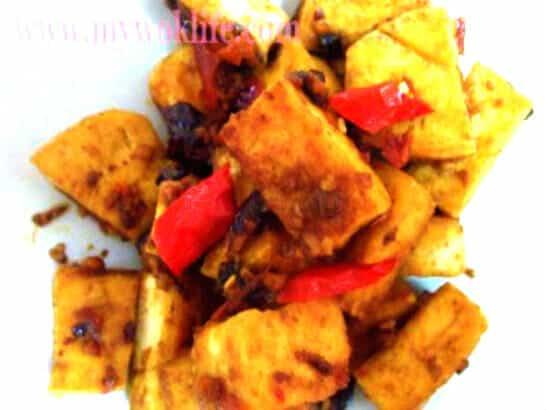 Fried tofu with Chai Bo