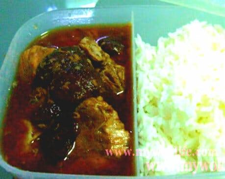 Lunch box braised pork with Mushroms