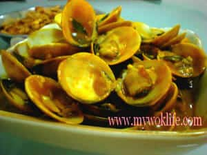 Clams in curry