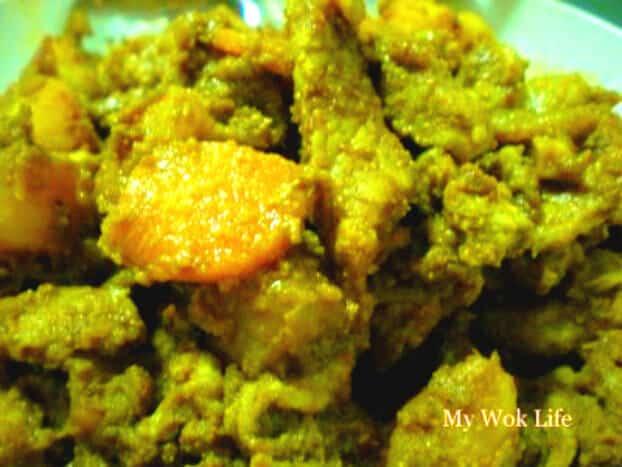 Dried curry pork