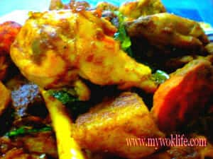 Dry curry chicken