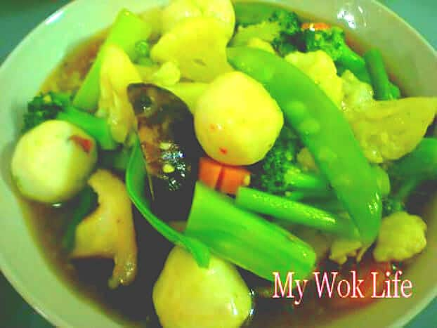 Mixed vegetables stir fry