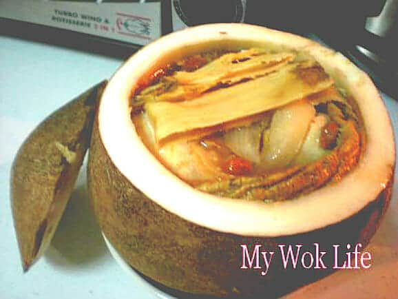 Chicken soup in coconut