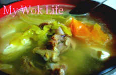 salted vege duck soup