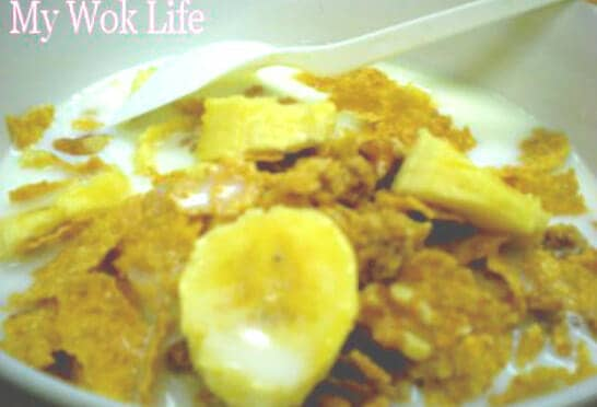 Breakfast Cereal with Banana Slices