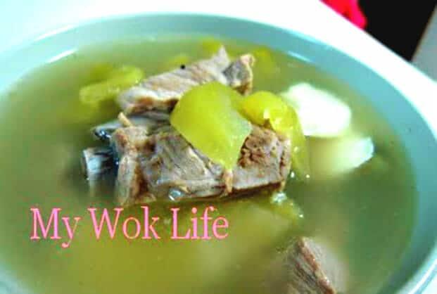 salted vegetable and tofu soup