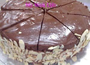 chocolate peach torte