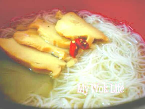 Soup Bee Hoon with abalone slices