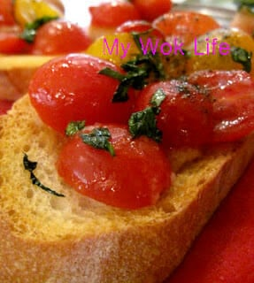 Bruschetta with Tomatoes (and Basil)