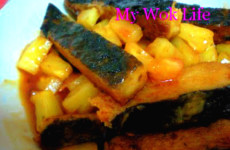 Mock Fish in Pineapple sauce