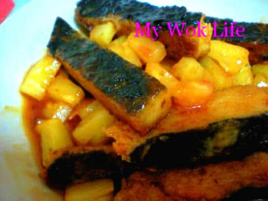 Mock Fish in Pineapple sauce