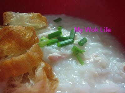 Shredded chicken congee