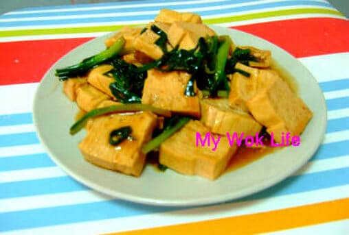 Tofu and spring onion