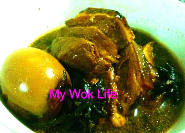 Braised pork and eggs