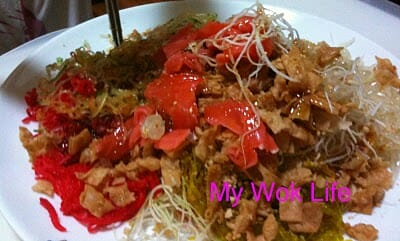 Yu Sheng Dish for Lo-Hey Ceremony (鱼生捞起)