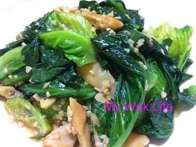 Stir fried baby kailan