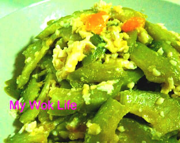 Stir Fried bitter gourd with salted egg