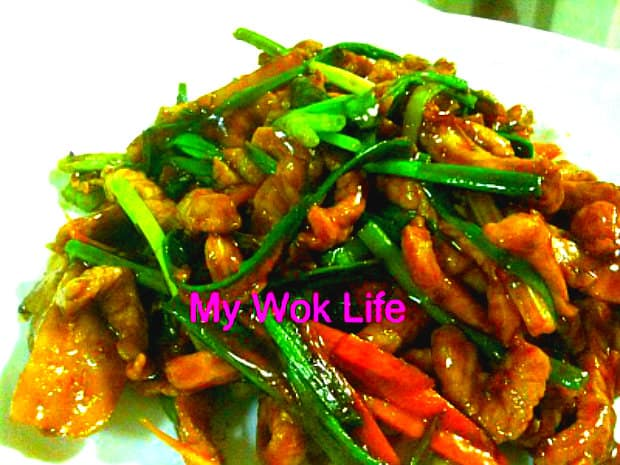 Ginger and Spring Onion Pork Dish (姜葱猪肉)