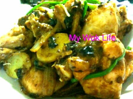 Black bean paste chicken