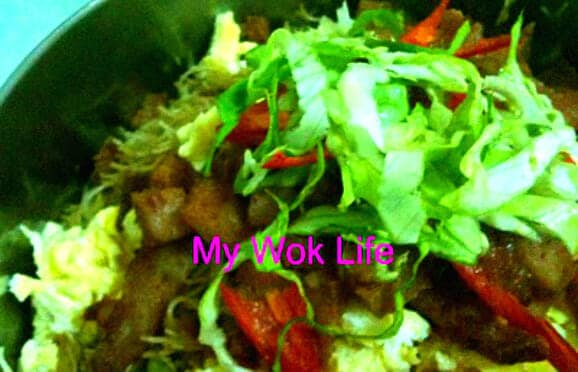 My Wok Life's Signature Fried Bee Hoon for Breakfast