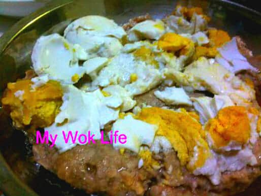 Steamed minced pork with salted egg