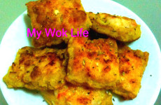 Shrimp toast squares