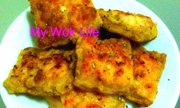 Shrimp toast squares