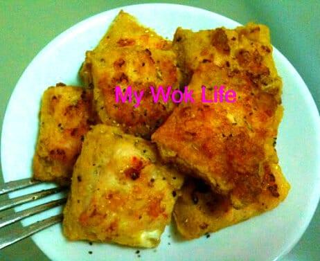 Mini shrimp toast