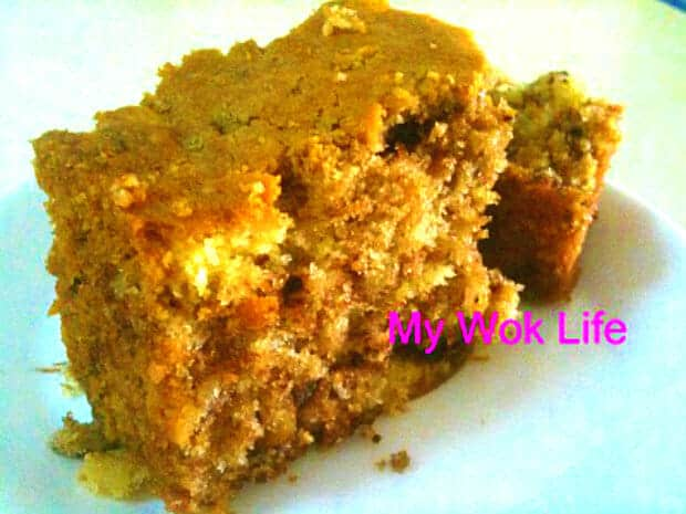Rolled Oat Marble Cake