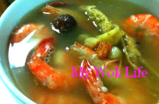 Ginseng Prawn Herbal Soup