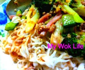 Instant noodles with Japanese sesame sauce