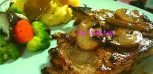 grilled pork chop