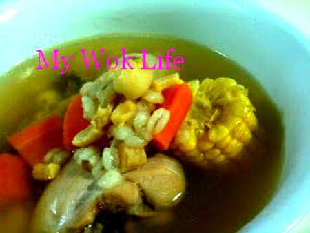 Chicken and Barley Clear Soup