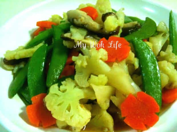 Mixed vegetables stir fry