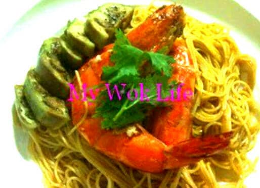 Tom Yum Prawn Spaghetti Pasta