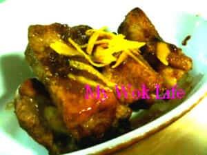 Grilled orange pork ribs