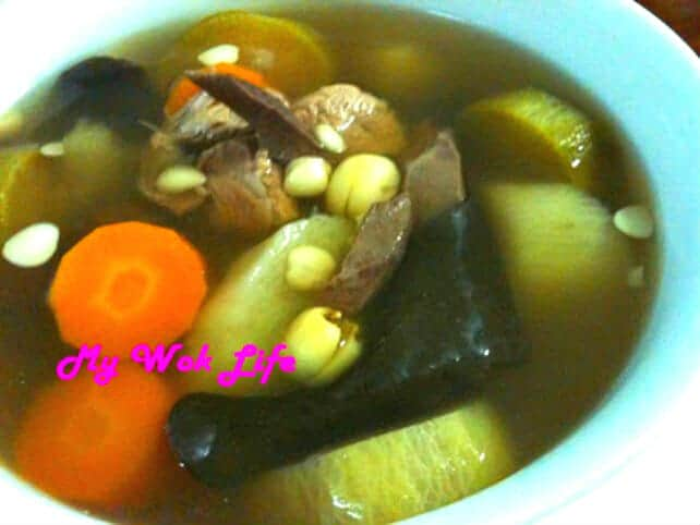 Chinese Tonic Soup with Pork Pancreas and Radishes (青红萝卜炖豬橫脷大补汤)