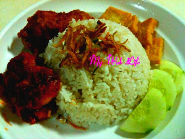 Nasi Lemak (Rice in Coconut fat)
