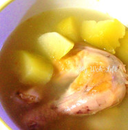 Chicken leg soup with Fo Shou Gua