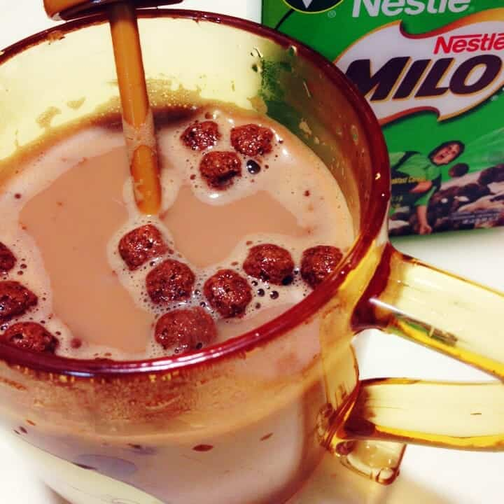 Milo cereal in Milo drink