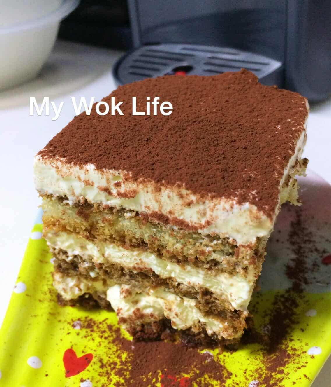 Delicious homemade tiramisu recipe my wok life tiramisu a coffee flavoured italian dessert that is not uncommonly found in the cafes and bakeries in singapore forumfinder Image collections