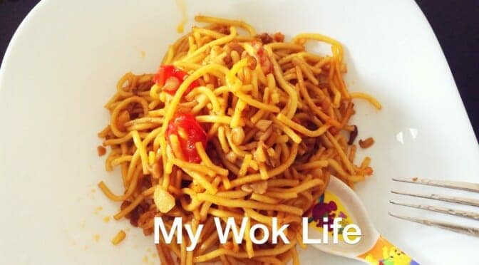 Chow Mien (Stir Fried Chinese Yellow Noodle 炒面) for Toddler