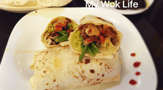 Spicy BBQ Pork & Asparagus Mushrooms Wrap Rolls