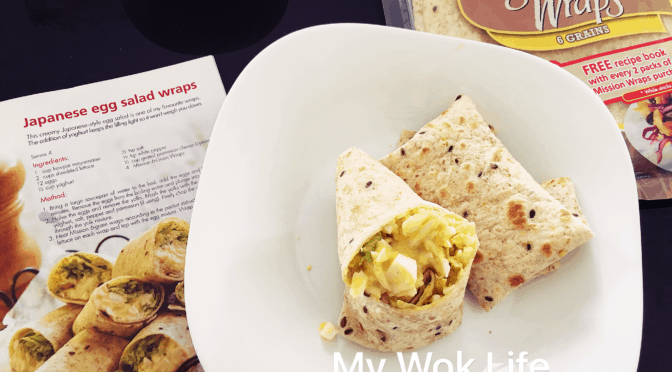 Japanese Egg Salad Wraps