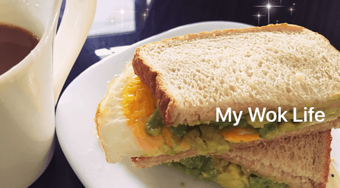 Grilled Fried Egg Sandwich With Creamy Avocado (Air-Fried)