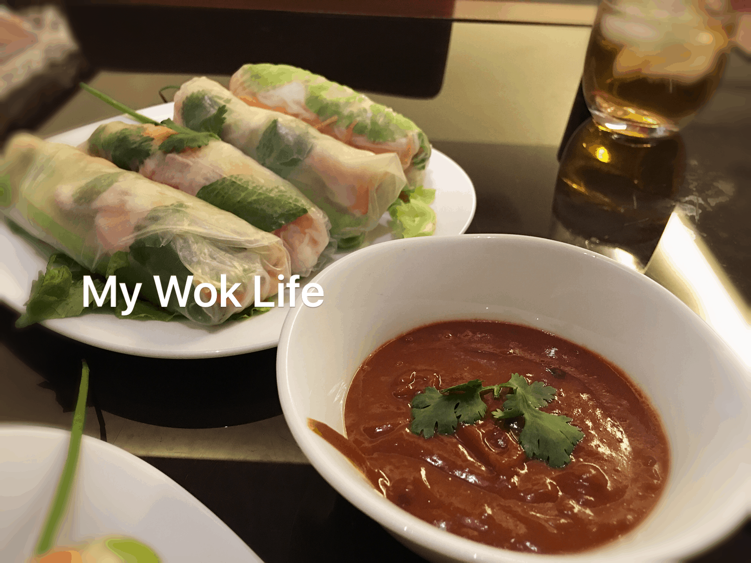 Vietnamese Summer Rolls with Spicy Peanut Sauce | My Wok Life
