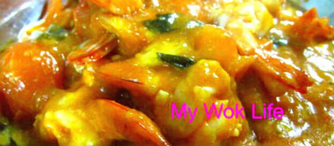 Prawns in Miso sauce